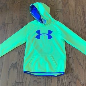 Youth Under Armour  yellow and purple sweatshirt!
